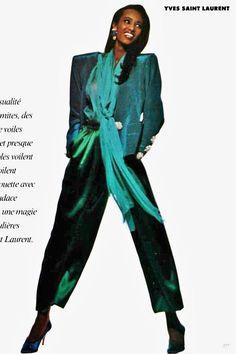 YSL 1989 Patti Hansen, Lauren Hutton, Yves Saint Laurent, Vintage Ysl, Vintage Style, 80s Trends, 80s And 90s Fashion, Vintage Bollywood, Vintage Fashion Photography