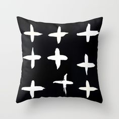 Crosses Throw Pillow by ChrissyInk - $20.00