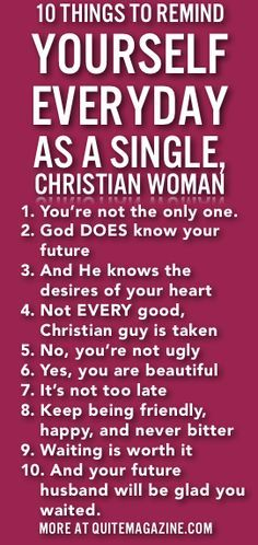 enville single christian girls Sexual desire and the single girl (10 tips for purity)  as a single girl in my thirties who was committed, by god's grace, to saving sex for marriage,.