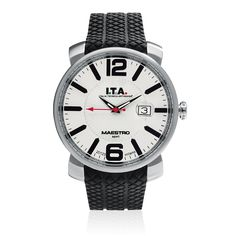 #ITA - Maestro Sport - Date function, Screw-in crown, Multi level dial, Applied tridimensional numbers and indexes, Luminous hands.
