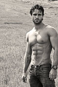 hot man; hot men; muscles; sexy; hot bodies; hot body; lovers; romantic; romance novel; jeans; art; photography; the look of love; eye candy for women