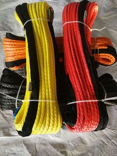 """NEW 3//16/""""x 20/' Dyneema Winch Line Synthetic Pulling Rope 12-Strand Braid"""