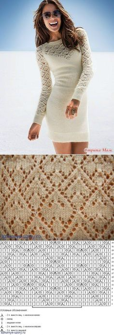 Вязание: платье спицами | вязание | Постила