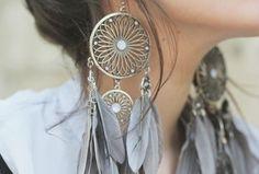 Dream catcher earrings <3