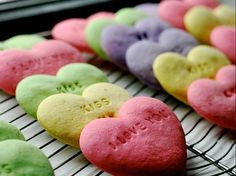 conversation heart cookies- cutest things ever!