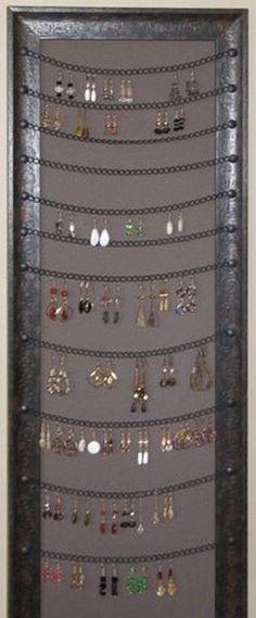 66 trendy jewerly organizer box diy display 66 trendy jewerly organizer box diy… – About jewelry organizer diy Diy Earring Holder, Diy Jewelry Holder, Earring Display, Jewelry Hanger, Earring Storage, Jewelry Wall, Jewelry Stand, Key Hangers, Space Jewelry