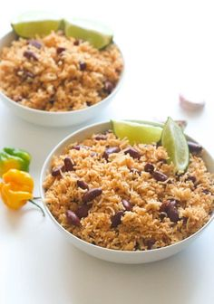 Caribbean Rice and Beans - Jamaican beans with coconut milk and creole seasoning