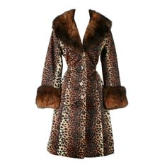 Vintage 1960's Lilli Ann Leopard Print Fur Trim Trench Coat | From a collection of rare vintage coats and outerwear at http://www.1stdibs.com/fashion/clothing/coats-outerwear/