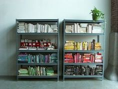 8 best Books by color images on Pinterest   Bookcases, Bookshelves ...