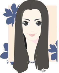 Olhar de Juliana - Mirada de Juliana #vector #ilustracion #vetor #ilustracao #corel #illustrator