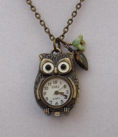 Owl Pocket Watch by CorbyLeeDesign on Etsy, $20.00