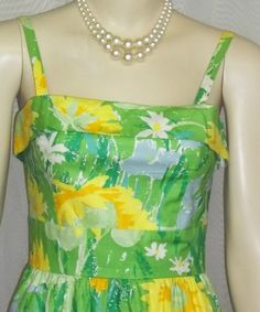 Vintage 1960s La Shack Pinup Sun Dress Sundress Small XS Palm Springs Locust Valley by ShonnasVintage, $74.99