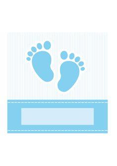 baby boy shower invitation/ birth announcement card - AmicheCreaAttive