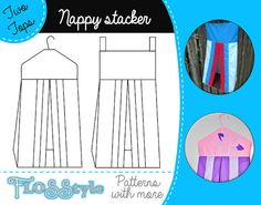 NAPPY STACKER PDF Pattern 2 designs with easy instructions ideal for ...