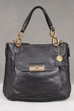 Coach Kristin Elevated Goat Leather N/S Tote In Black - Beyond the Rack
