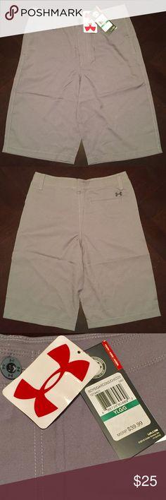 Under Armour Grey khaki shorts Brand New Grey shorts 100% polyester Under Armour Bottoms Shorts