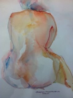 Life Drawing 20min Watercolour sketch / Carmen Mountford