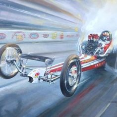 Front engine dragster.