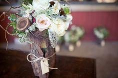 Rustic and whimsical flower arrangement