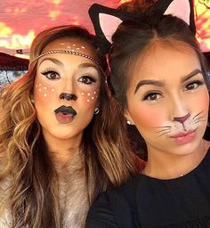 Cute Cat Makeup Ideas For Halloween Party Costume Halloween, Looks Halloween, Cat Costumes, Halloween Kids, Halloween Party, Halloween Season, Cat Costume Makeup, Cat Halloween Makeup, Party Makeup