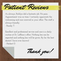 We have some of the sweetest patients. Thank you for choosing us!
