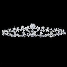 ihomecoming.com SUPPLIES Fantastic Flower Rhinestone Wedding Bridal Tiara Tiara