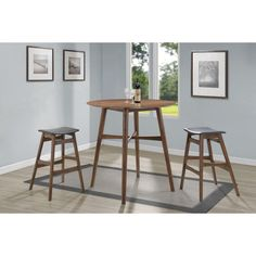 Coaster Furniture Coaster Landers 3 Piece Round Pub Table Set - COA3651-1