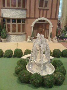 Jocelyn's Mountfield Dollhouse: Making a dollhouse water fountain