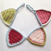 Ravelry: Mini crochet bunting pattern by Ruby & Custard
