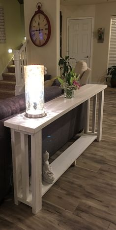 DIY Sofa Table for Only  30   Pinterest   Diy sofa table  Diy sofa     Couch table DIY