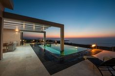 Enjoy the magnificent view of the sea at your private pool villa in Kalathas