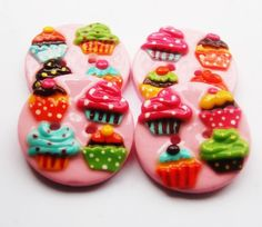 polymer clay button