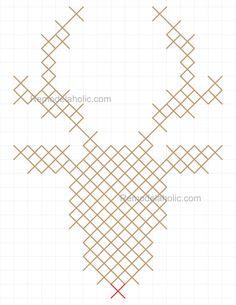 Reindeer pattern 8.5x11 half scale - Could be done on small scale for ornaments