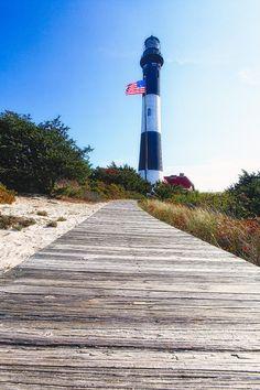 ✯ Boardwalk and Lighthouse - Fire Island, NY