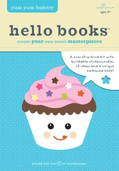 Hello Books Yum Yum Bakery DIY Book Kit - Made with FSC-certified recycled paper #ecofriendly #gogreen