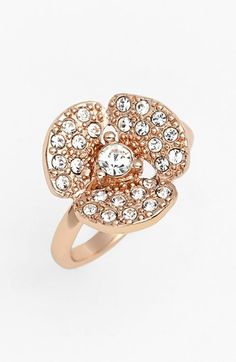 kate spade new york 'disco pansy' mini pavé flower ring available at #Nordstrom