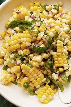 Ina Garten's 13 Best Summer Recipes of All Time Let's face it: we want to spend our whole summer eating grilled corn salad with Ina Garten. Here are 13 recipes to recreate the magic at home. - Ina Garten's 13 Best Summer Recipes of All Time dish garten Corn Salad Recipes, Veggie Recipes, Cooking Recipes, Healthy Recipes, Fresh Corn Recipes, Summer Vegetable Recipes, Food Recipes Summer, Summer Food, Cooking Bacon