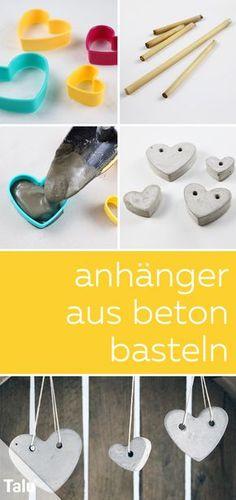 Kostenlose Anleitung - Basteln mit Beton - Anhänger aus Beton - Talu.de