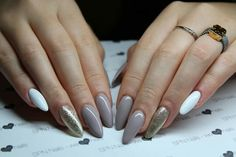 Lakiery hybrydowe SPN UV LaQ 502 My wedding dress, 511 Nude , 628 Golden Eye. Nails by Klaudia Gozdek, Salon Beautica #spn #spnnails #inspiracje #paznokcie #nailure #nails #łódź