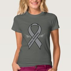 Asthma Awareness Ribbon with Wings Tee Shirt