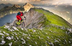"visitor0766: Epic trail by Sandi Bertoncelj ""Mtb alpine riding ridgelines with scenic view in Karavanke Alps, Slovenia."""