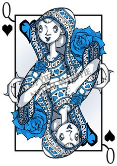 Blue Rose Playing Cards designed by Noah Wippie