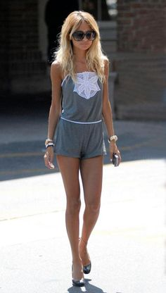 Nicole Richie is the opposite of what girls should hope to look like. She is way too thin. Her body is that of a young boy. Why do girls idolize this? Be healthy, not stupid.