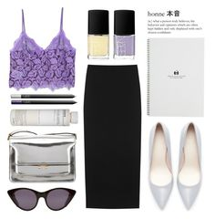 """""""My little garden of secrets"""" by miss-magali-mnms ❤ liked on Polyvore featuring MANGO, Maison Margiela, NARS Cosmetics, Zara, Marni, Korres and Opening Ceremony"""