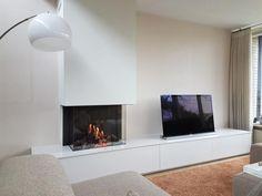 Moderne inbouw haard   Profires partner Reijnhoudt & van der Zwet · inspiratie voor sfeerverwarming Fireplace Design, Fireplace Ideas, Ikea, Living Room, Interior, House, Inspiration, Home Decor, Google Search