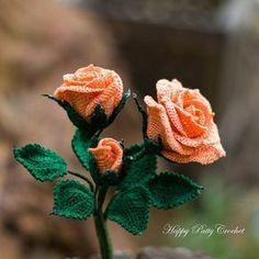 """Crochet Spray Roses, so delicate. Love working with pearl cotton 8s @):- #crochetflower #crochetlove #crochet #crochetrose"""