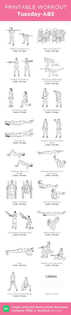Tuesday-ABS –my custom workout created at WorkoutLabs.com • Click through to download as printable PDF! #customworkout