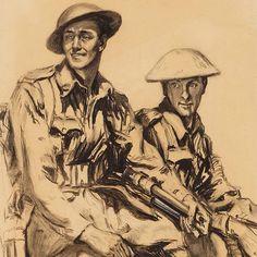 Hilda Rix Nicholas, Australia 1884-1961; 'Two soldiers' 1918