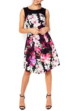 Fit & flare complete with bright floral.