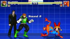 Spider-Man & Blossom The Powerpuff Girl VS Green Lantern Guy Gardner & Agent Smith In A MUGEN Match This video showcases Gameplay of Agent Smith From The Matrix Series And Green Lantern Guy Gardner VS Blossom The Powerpuff Girl From The Powerpuff Girls Series And Spider-Man The Superhero In A MUGEN Match / Battle / Fight